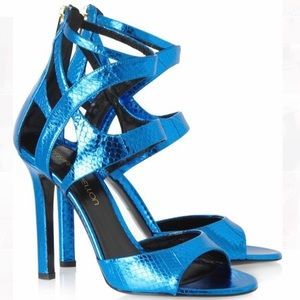 TAMARA MELLON Fatale Turquoise Watersnake Sandal